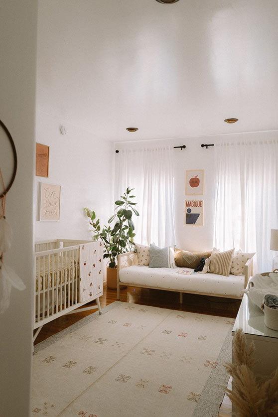 Daybed in baby room