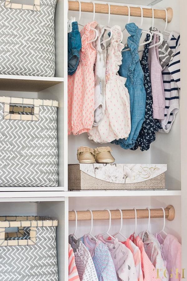 DIY Nursery Closet Tutorial with Material List