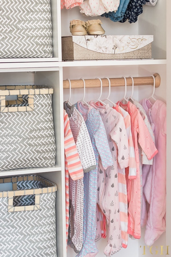 Upgrade your nursery closet with wood closet poles