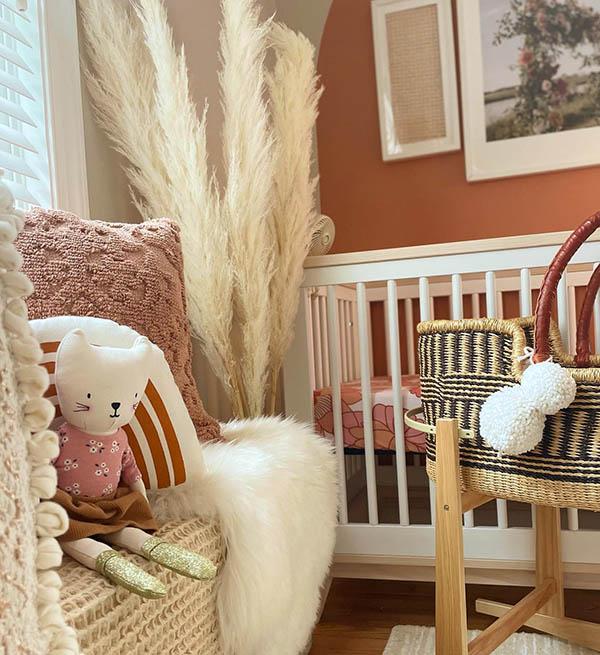 earth tone nursery decor