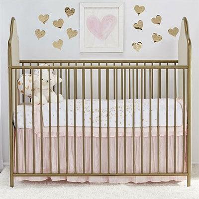 Glam nursery crib