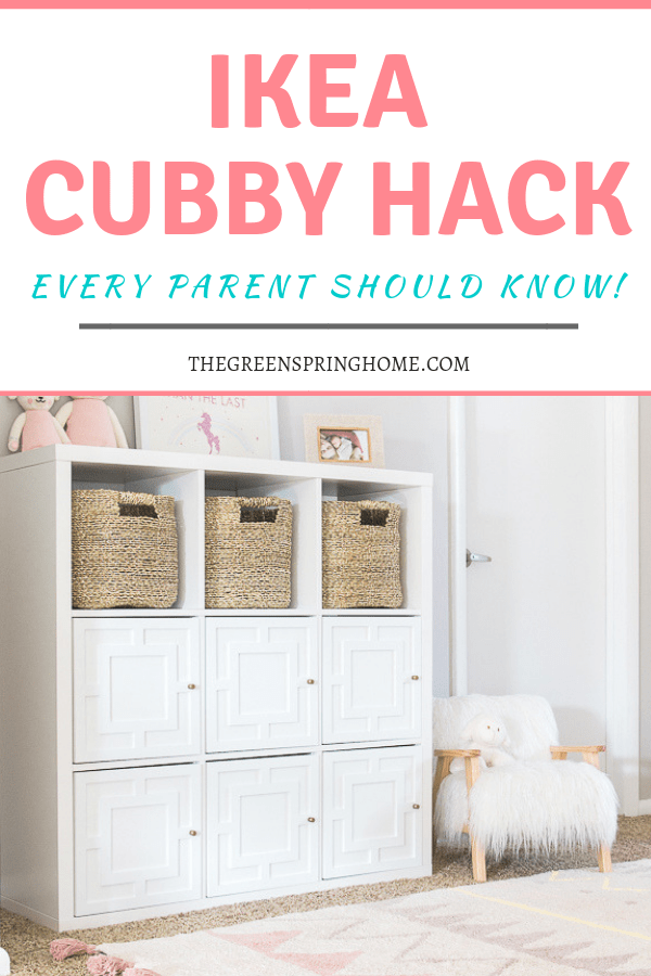 IKEA cubby hack for hidden toy storage