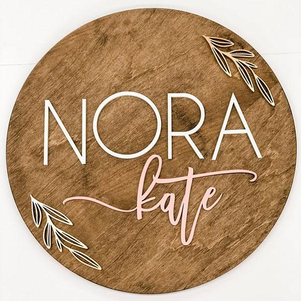 The Best Custom Wood Name Signs