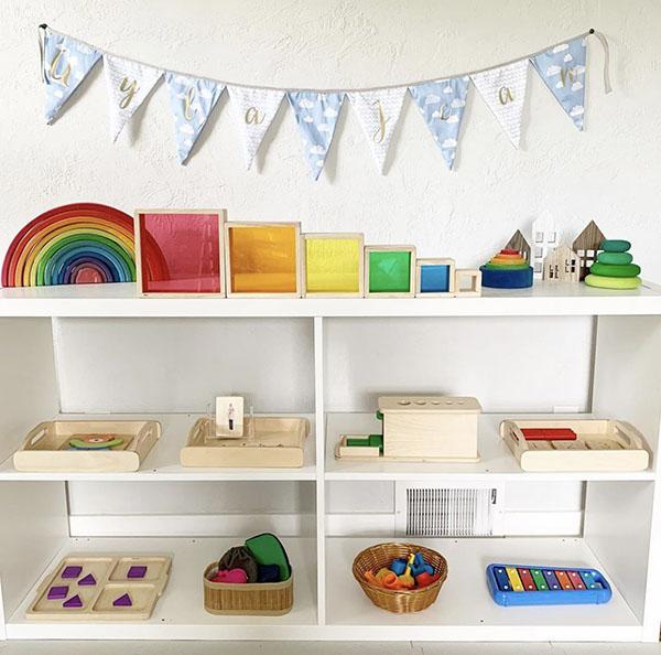 Montessori toy shelf