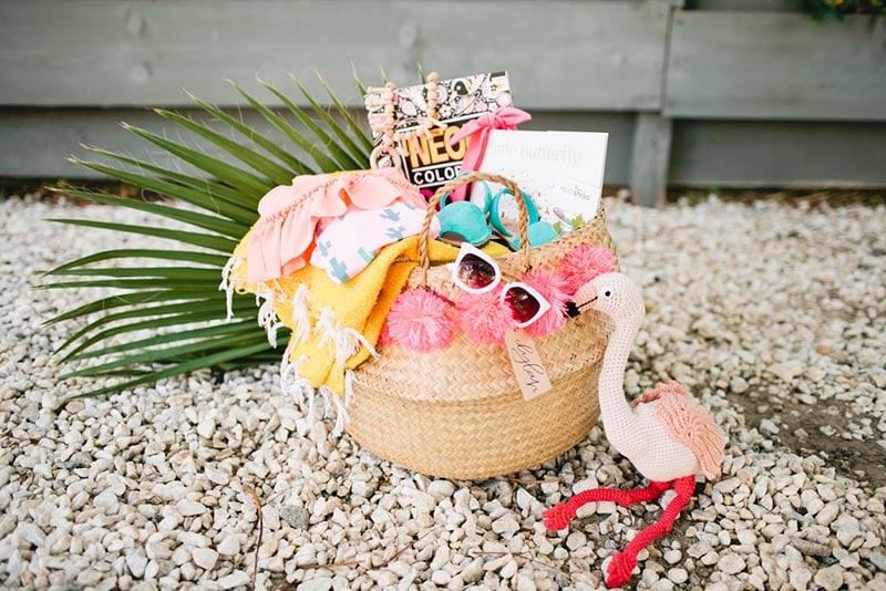 Sun and sand theme Easter basket
